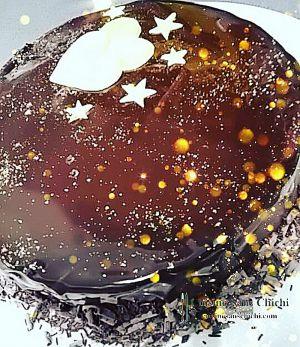 Recette Gâteau tout chocolat, glaçage miroir