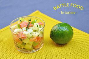 Recette Battle Food : tartare de truite fumée à la pomme verte