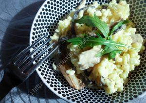 Recette Risotto aux pleurotes / Oyster Mushroom Risotto