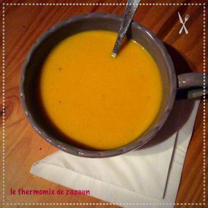 Recette Soupe de citrouille au curry coco