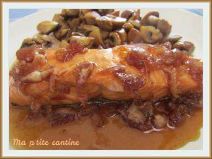 Recette Pavé de saumon aux échalotes confites et sirop d'érable