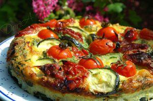 Recette Fritatta aux courgette et tomates