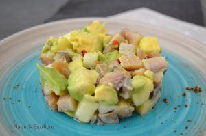 Recette Salade de hareng, avocat, pomme verte et radis noir