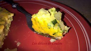 Recette Frittata courgettes , pomme de terre et persillade à la tomme