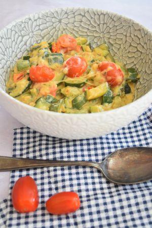 Recette Courgettes et tomates cerises à la mozzarella