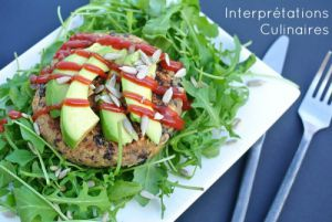 Recette Burger tempeh & haricots noirs