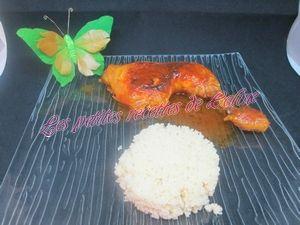 Recette Cuisse de poulet aromatisé