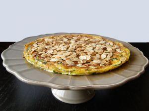Recette Zucchini frittata with flaked almonds