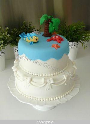 Recette Gâteau d'anniversaire... déco en pâte à sucre