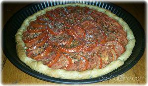 Recette Tarte du soleil - Tarte aux tomates