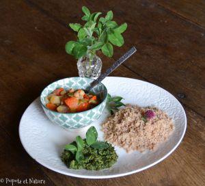 Recette Sauce originale aux plantes porte bonheur à déguster avec du couscous !