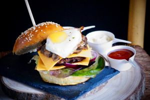 Recette Hamburger maison façon English Breakfast