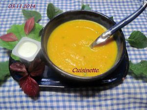 Recette Soupe à la citrouille et carottes