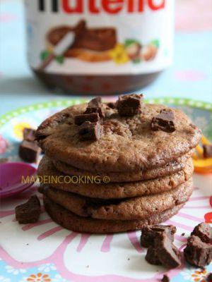 Recette Cookies au nutella® et aux pépites de nutella®