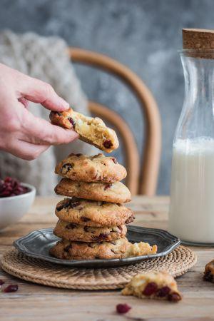 Recette Cookies au chocolat blanc et cranberries