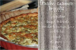 Recette Quiche au saumon et brocolis