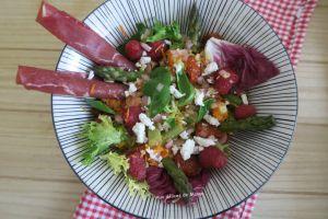 Recette Salade de primeurs à la bresaola