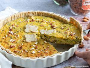 Recette Tarte au poireau et poulet à la moutarde