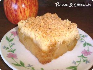 Recette Crumble aux pommes à la vanille et aux amandes