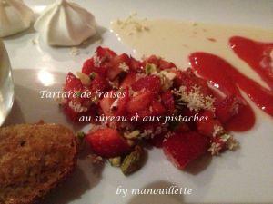 Recette Tartare fraise-sûreau-pistaches
