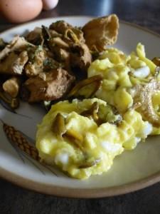 Recette Omelette et fricassée aux pieds de mouton
