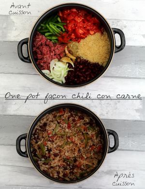 Recette One pot façon chili con carne