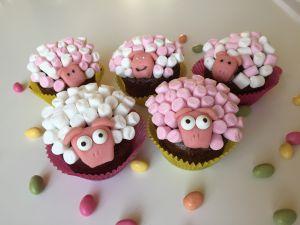 Recette Cupcakes de Pâques mouton, banane chocolat