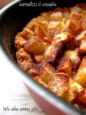 Recette Tarte sablée pommes poire