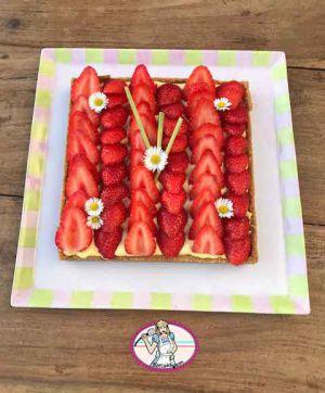 Recette Tarte aux fraises et crème Magik à la citronnelle