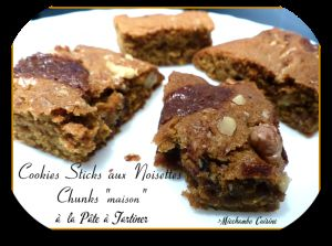 Recette Cookies Sticks aux Noix et Chunks Maison à la Pâte à Tartiner