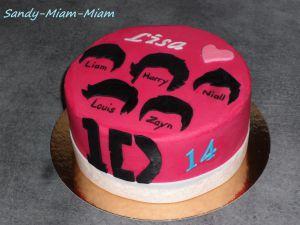 Recette Gâteau pâte à sucre One Direction