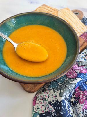 Recette Velouté de patate douce, topinambour et carotte