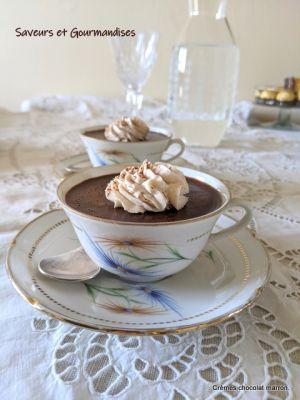 Recette Crèmes chocolat  marron