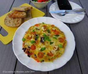 Recette Omelette à la grecque, version craquante +