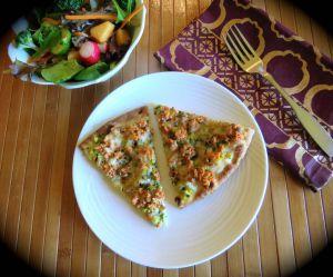 Recette Pizza express, pesto léger et sockeye +