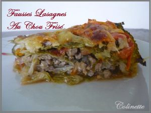 Recette Fausses lasagnes aux chou frisé