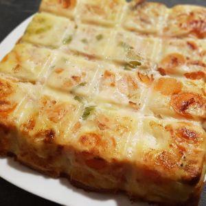 Recette Quiche sans pâte aux poireaux, carottes, saumon fumé et chèvre