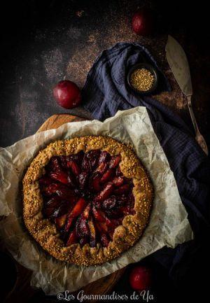 Recette Tarte rustique aux prunes et sarrasin