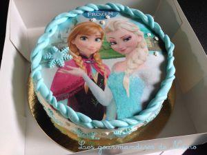 Recette Gâteau reine des neiges sans pâte à sucre