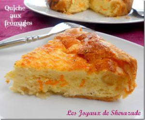 Recette Quiche aux fromages