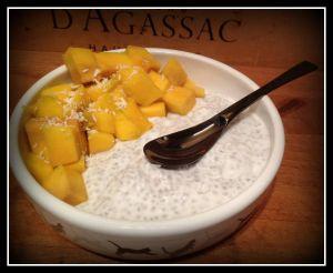 Recette Pudding de graines de chia coco et mangue