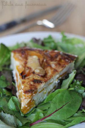 Recette Clafoutis de courge au parmesan