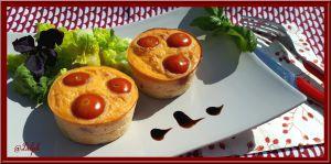 Recette Frittatas au Comté, Tomates et Jambon