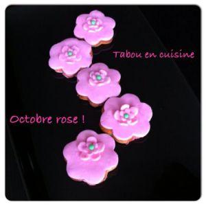 Recette Sablés à la rose: Octobre rose