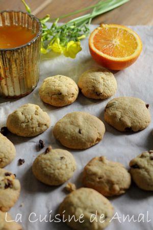 Recette Cookies a l'orange et aux canneberges