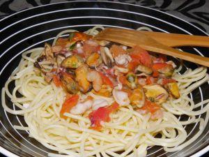 Recette Spaghettis aux fruits de mer