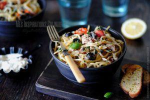 Recette One pot pasta au thon, câpres et citron