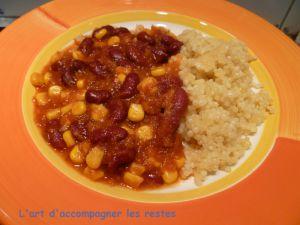 Recette Chili de haricots rouges et couscous en perles