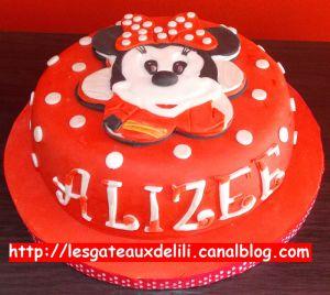 Recette Gâteau Minnie en 2D