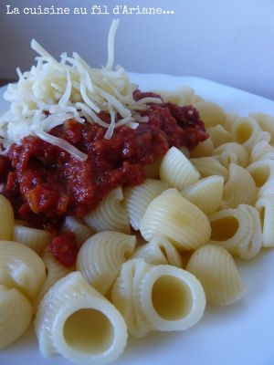 Recette Pâtes à la sauce spaghetto